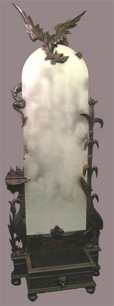 Victorian Dragon Carved Hallstand