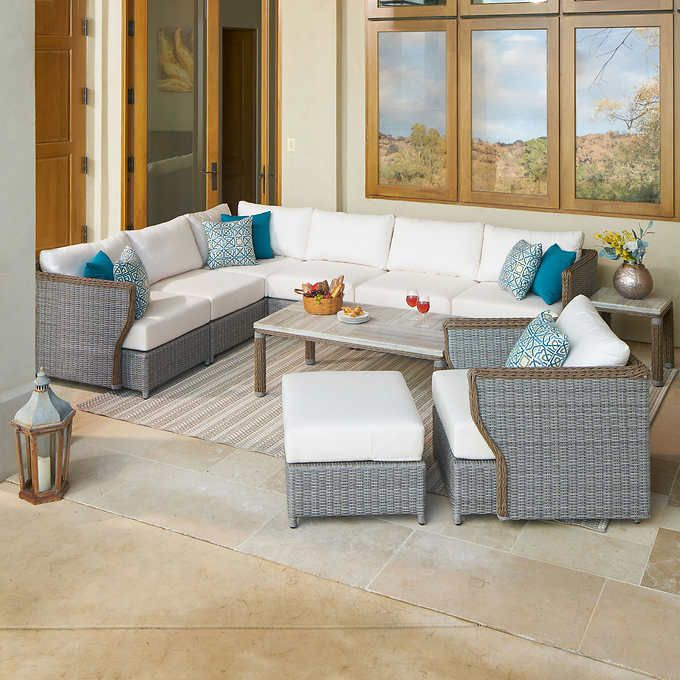 Sensational Richmond 10 Piece Deep Seating Set In 2019 Deck Furniture Creativecarmelina Interior Chair Design Creativecarmelinacom