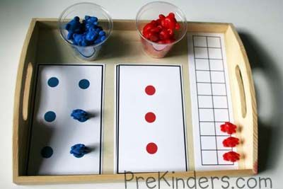 Here's a set of cards for counting and comparing sets of bears.