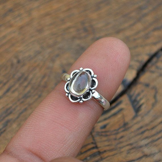 Natuurlijke Citrien Ring Citrien en Sterling door NativeFineJewelry
