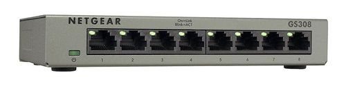 NETGEAR GS308 8-Port Gigabit Ethernet Home Switch | Desktop | Internet Splitt...