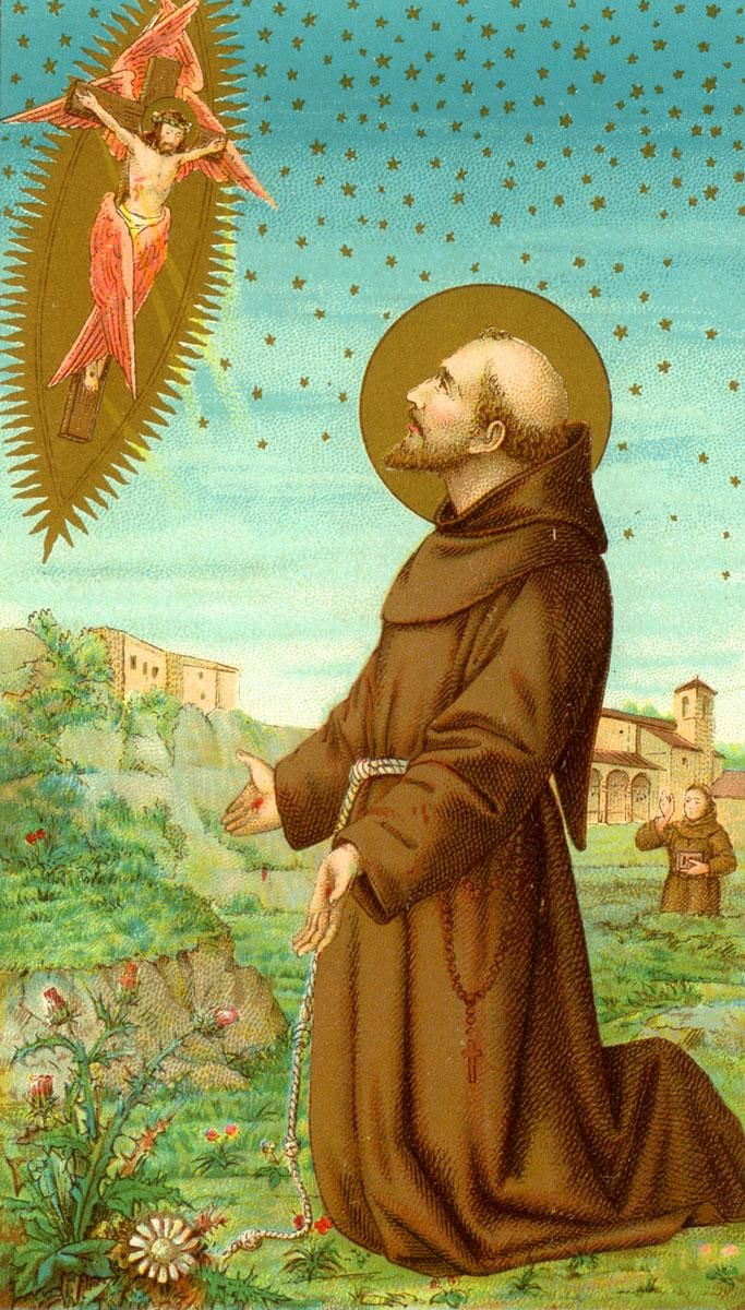 Prayer to St. Francis of Assisi O glorious Saint Francis, who, even in thy youth, with a generous heart didst renounce the comfort and ease of thy father's house in order to follow Jesus more closely...