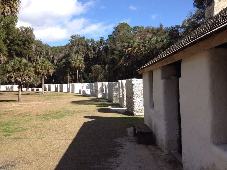 Slaves built these tabby cabins at Kingsley Plantation during the 1820s. The plantation is located on Fort George Island in the Timucuan Preserve in Jacksonville, FL, and is now a national park  (http://www.nps.gov/foca/learn/historyculture/kp.htm). (Photo by Kim Kleckner)