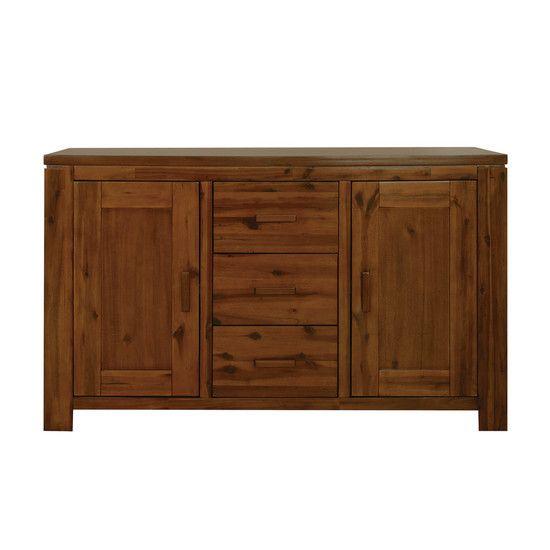 Cheap Sideboards | Seville Acacia Dark Wood Sideboard Our Seville Acacia Sideboard is ...