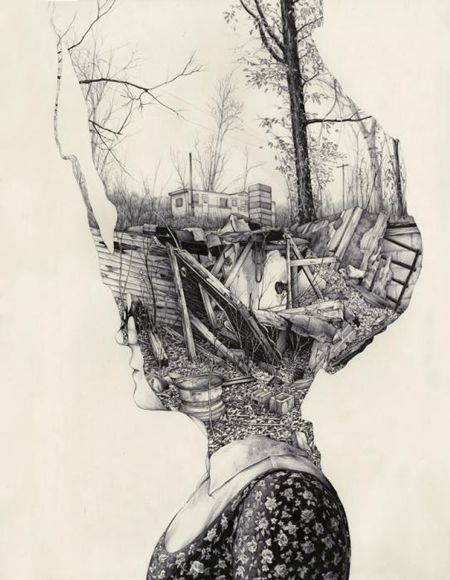 Very detailed surrealist art and illustrations by Pat Perry