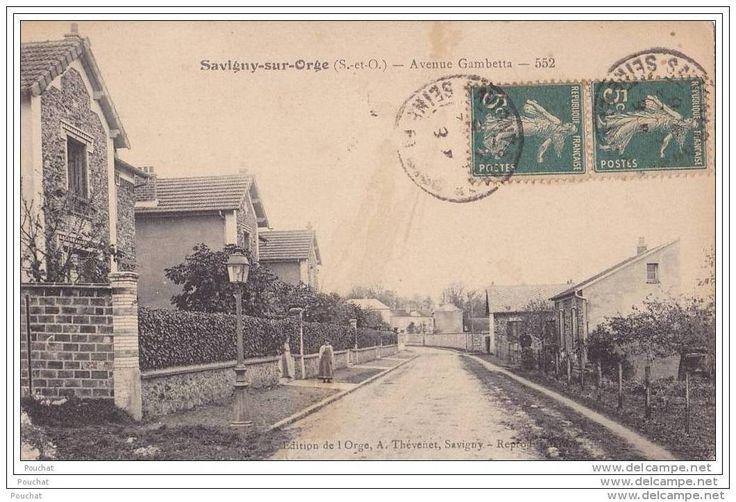 91) Savigny Sur Orge.- (Seine Et Oise)  Avenue Gambetta - Savigny Sur Orge