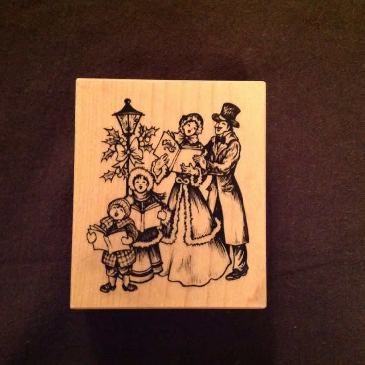 Vintage Wooden Christmas Carolers Set Of 3 Victorian: 72 Best Christmas Rubber Stamps Images On Pinterest
