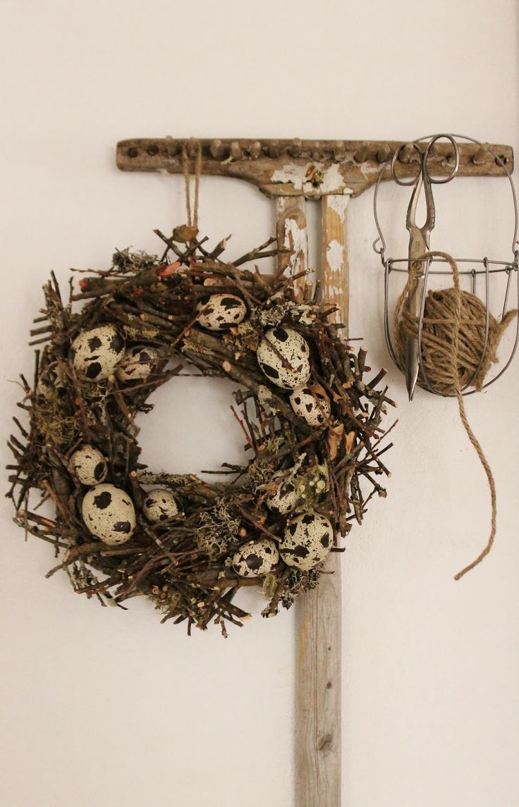 Quail Egg Wreath -- Not like I don't have enough quail eggs lying around!