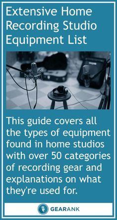 Extensive Home Recording Studio Equipment List. A very useful guide for anyone looking for ideas to set up or expand their home recording studio.
