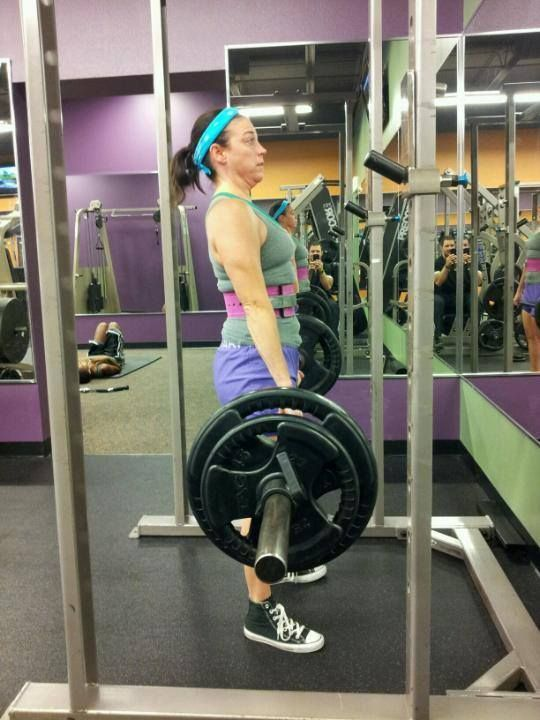 Lets Hear It For Shelli Horne Client Of Joe Manning Out At Anytime Fitness Deforest Repping 185 Lbs On The Deadlift Anytime Fitness Deadlift Fitness
