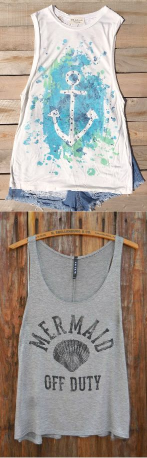Sweet, affordable summer clothing at www.deloom.com! Shop graphic tops perfect for the beach. USA based, free shipping - always.