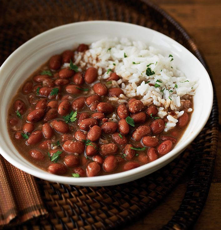 Cajun Red Beans using the NEW Microwave Pressure Cooker. Prep and cook in 35 minutes.