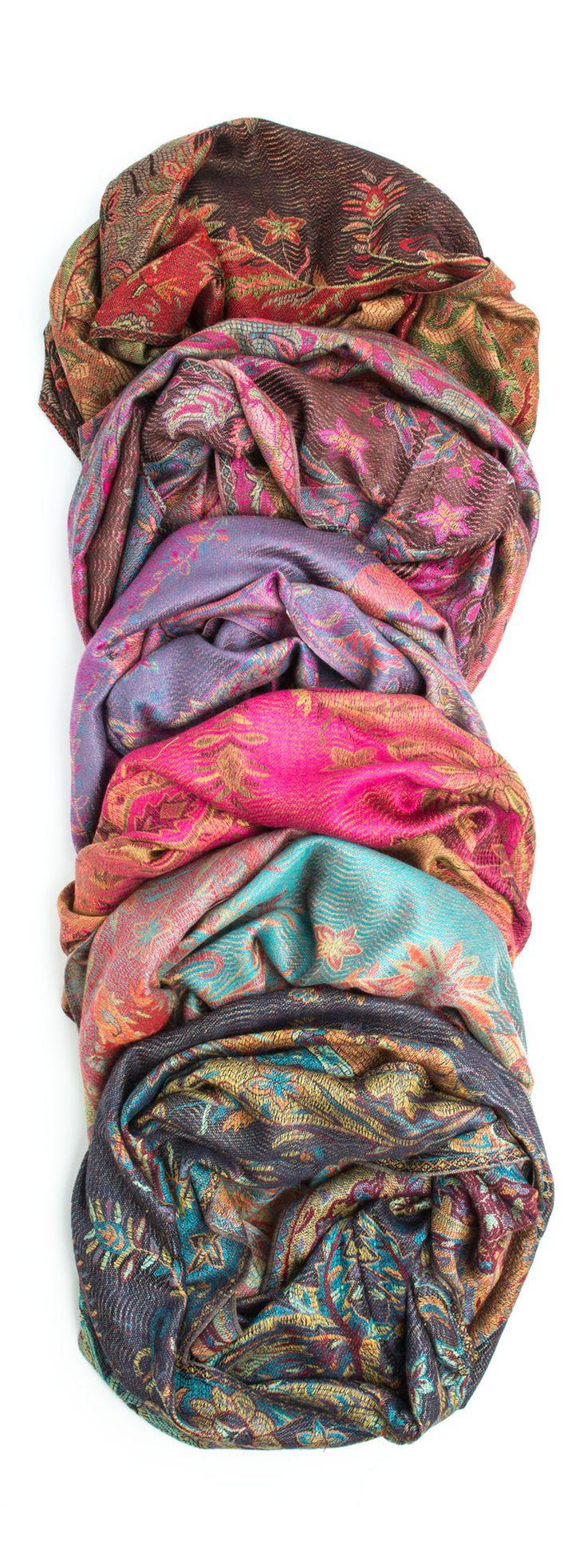 Ramaya Infinity Scarf - Richly Colored Rare Infinity Pashmina Scarf