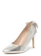 Womens Wide Fit Silver Exclusive 'Esta' Court Shoes- Silver