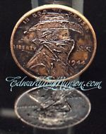 Hobo Nickel Wheat Penny Coin with Bandit Cowboy Artwork !!!