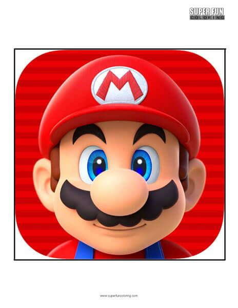 3d515f7098 Super Mario Run App Coloring Page Android Iphone