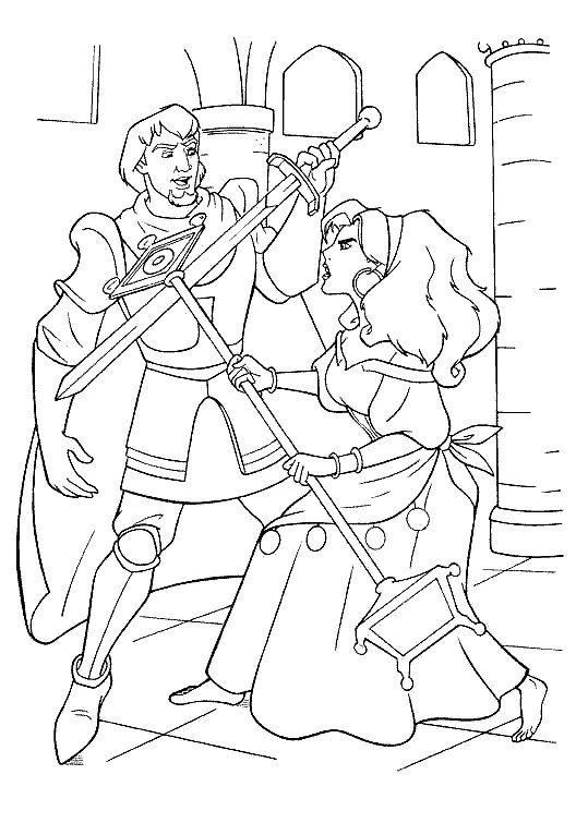 Coloring Page Hunchback Of Notre Dame Kids N Fun