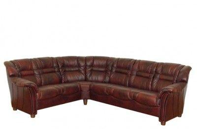 Roma sofa couch red leather corner møbelform swedish design www.helsetmobler.no