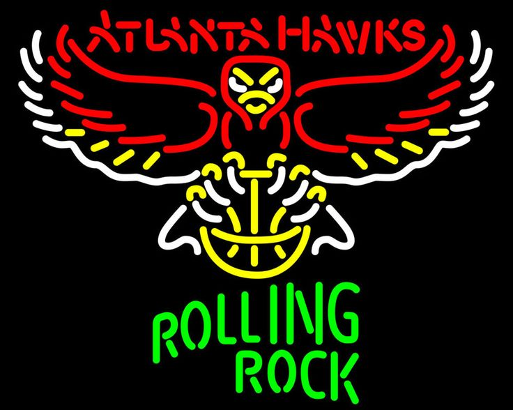 Rolling Rock Atlanta Hawks NBA Neon Beer Sign, Rolling Rock with NBA Neon Signs | Beer with Sports Signs. Makes a great gift. High impact, eye catching, real glass tube neon sign. In stock. Ships in 5 days or less. Brand New Indoor Neon Sign. Neon Tube thickness is 9MM. All Neon Signs have 1 year warranty and 0% breakage guarantee.