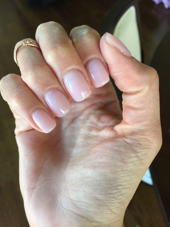 OPI gel polish in Bubble Bath on acrylic nails
