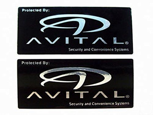 2pcs Potential Avital Car Alarm Window Security Stickers Decals #Potential #Avital #Alarm #Window #Security #Stickers #Decals