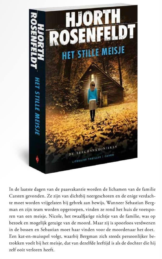 Tip van Thrillerlovers - Het stille meisje - Hjorth Rosenfeldt - komt uit in mei 2015