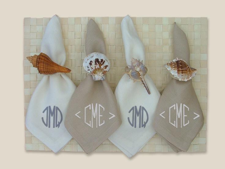inidividuales hoja de palmera servilleteros shell