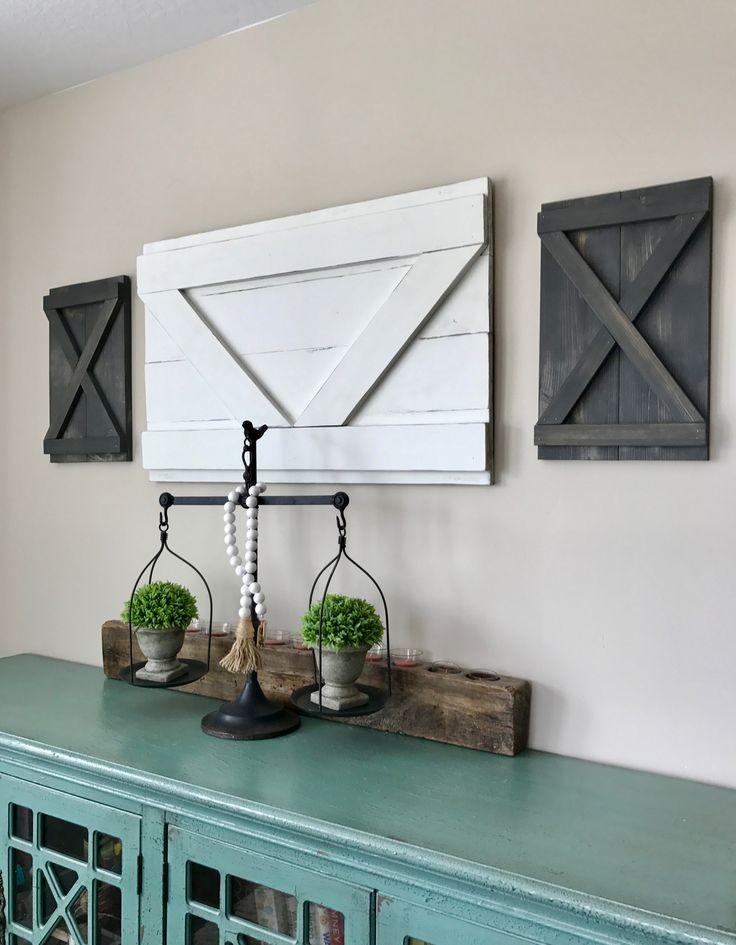 Best 25 farmhouse interior shutters ideas on pinterest - Shutters for decoration interior ...