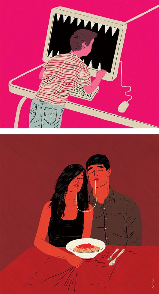 Editorial Illustrations by Paul Blow