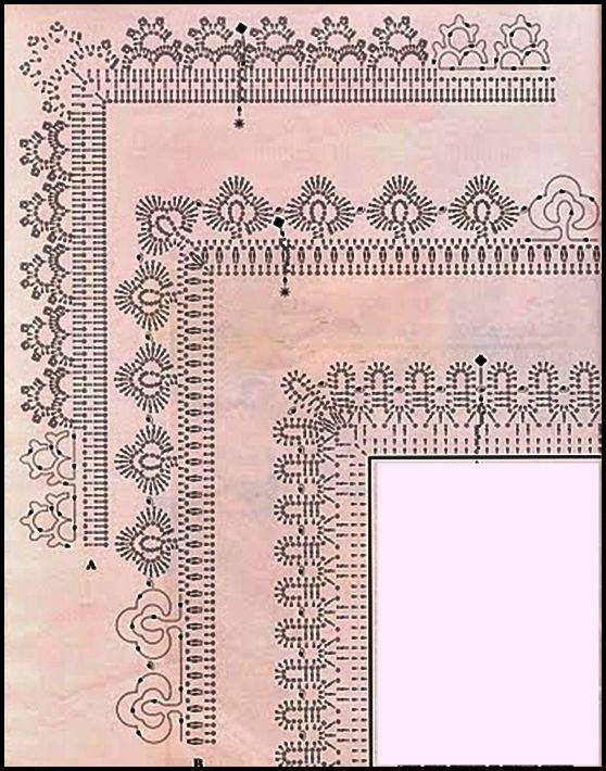 GRAFCOS DE PUNTILLAS AL CROCHET= PATRONES A GANCHILLO=TODO GRATIS