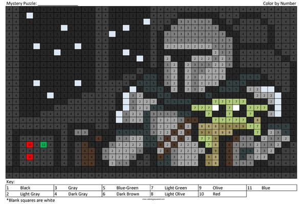 Mandalorian And Baby Yoda Coloring Squared Star Wars Embroidery Pixel Pattern Tapestry Crochet Patterns