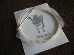 """Alright, I've finally had the time to """"screen print"""" another shirt, so here's the tutorial... Materials needed: a t-shirt, yucky/cheap paint brushes, an embroidery hoop, screen printing ink (I use Speedball brand), a glue that isn't water-soluble (I use Mod Podge), curtain sheer…"""