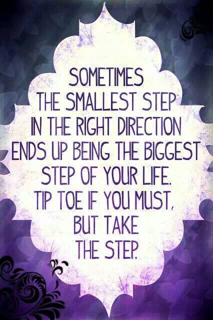 Making one small step in the right direction ...