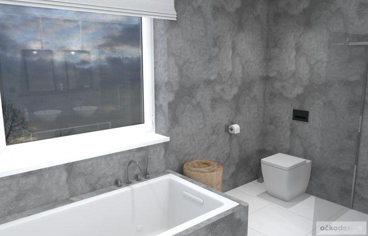 Dřevěný špalek v koupelně slouží na odkládání svršků
