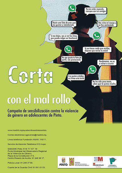 Corta con el Mal Rollo, para prevenir la violencia de género en adolescentes. Ayuntamiento de Pinto