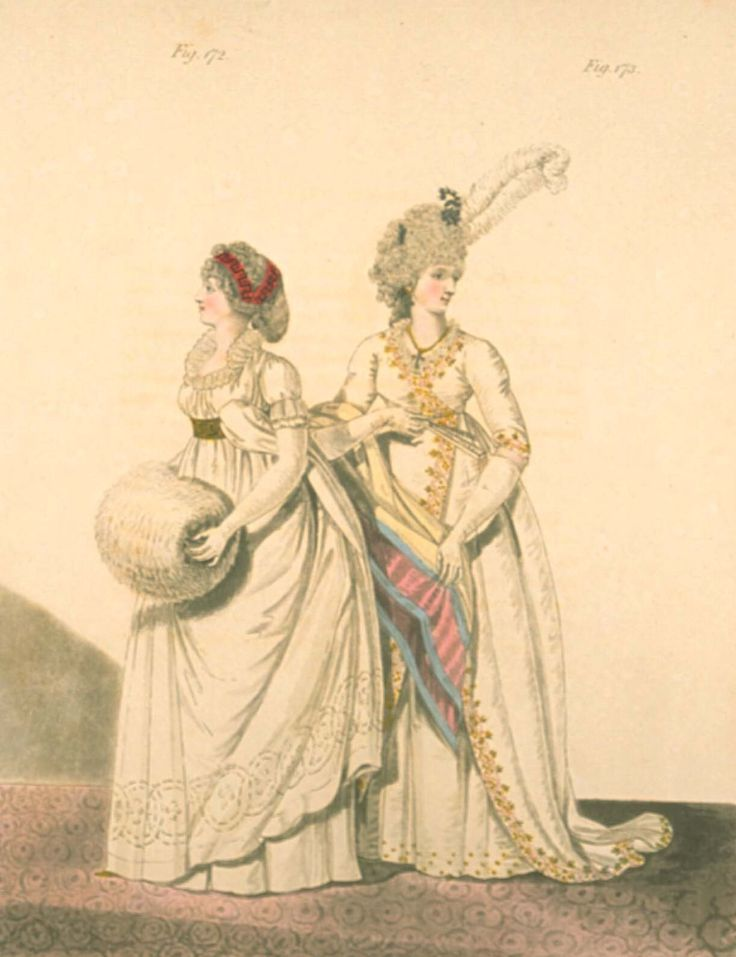 Gallery of fashion March 1798 - Afternoon dresses