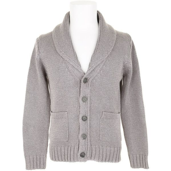 JULIEN DAVID Cardigan ($585) ❤ liked on Polyvore featuring men's fashion, men's clothing, men's sweaters, sweaters, mens cotton sweaters, mens patterned sweaters, mens shawl collar sweater, mens shawl collar cardigan sweater and mens cardigan sweaters