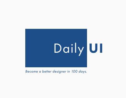 다음 @Behance 프로젝트 확인: \u201cDaily UI (#dailyui)\u201d https://www.behance.net/gallery/30679107/Daily-UI-(dailyui)