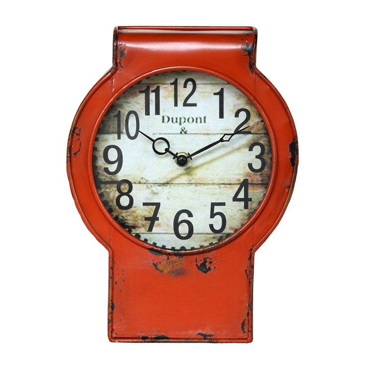 loving the orange! It's so rustic too: Table Clocks, Antiques Orange, Joss And Maine, Dupont Tables, Antiques Cream, Bedlow Parks, Tables Clocks, Irons Tables, Parks Events