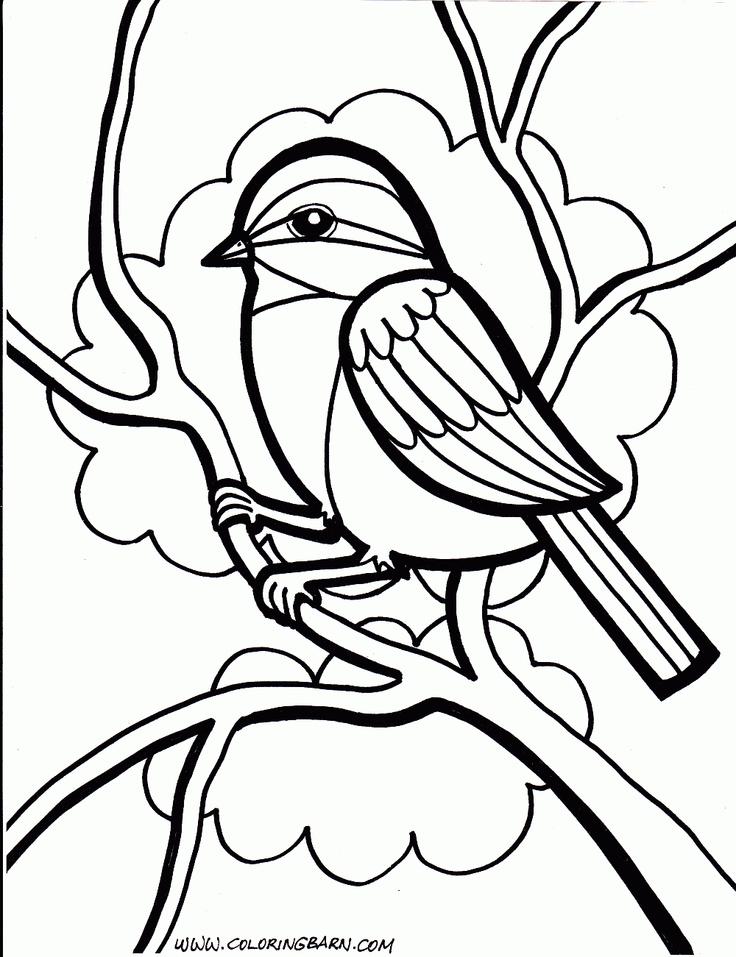 Bird Coloring Pages Cardinal Crow