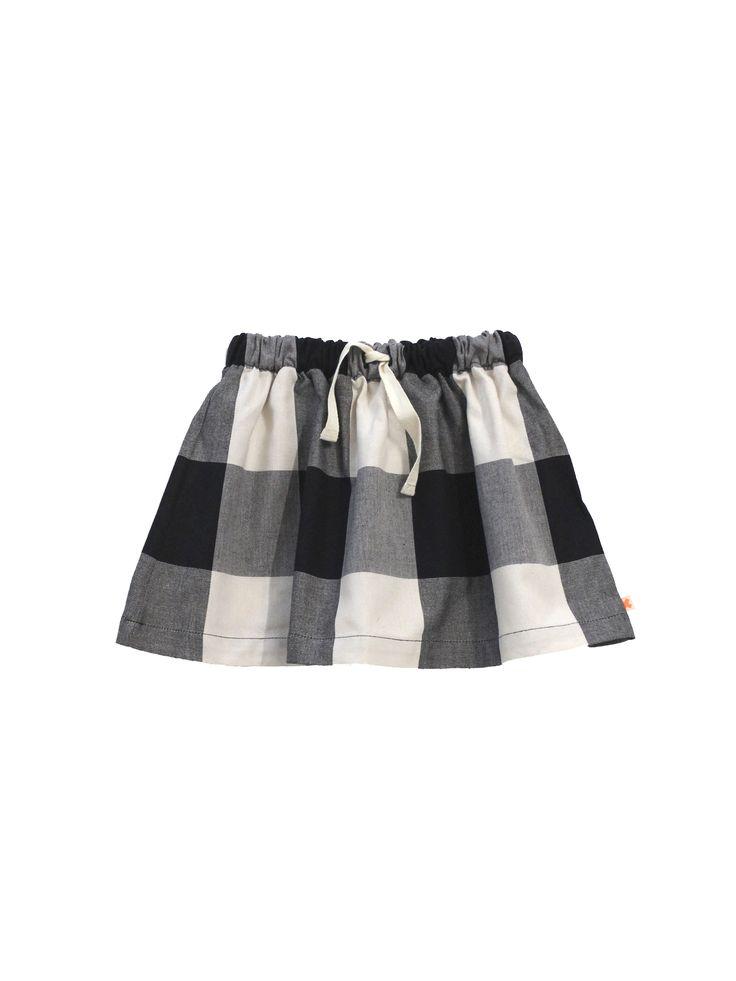 Falda de tinycottons. Material: 100% Algodón Color: Beige/black. Detalles: Lavar a máquina con agua fría. No usar secadora. Secar a la sombra.