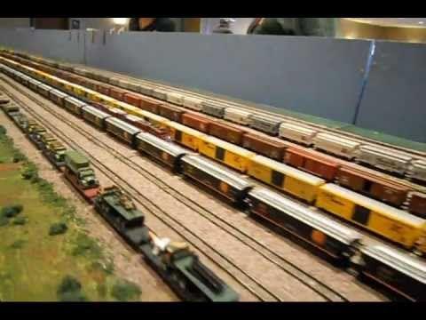 N-SCALE model railroad train layout w/sounds added #5