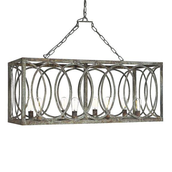 Ashley Taylor Home - French Iron Charles Rectangular Chandelier 8 Light, $1,499.00 (http://www.ashleytaylorhome.com/french-iron-charles-rectangular-chandelier-8-light/)