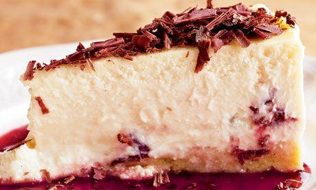 NIgel Slater's Christmas cheesecake with morella cherries