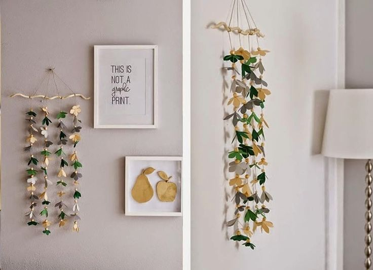 DECORACION FACIL: DIY: DECORAR UNA PARED CON UNA GUIRNALDA DE PAPEL
