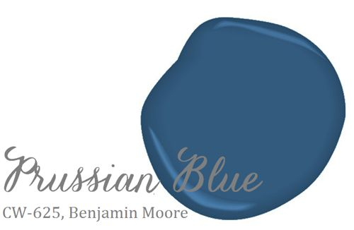 Prussian Blue--Benjamin Moore. Mudroom option, would like to give it a try. The Perfect Blue...love it.
