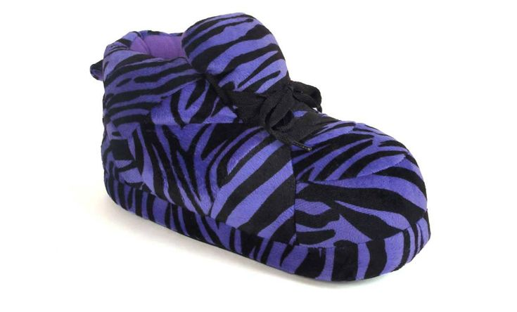 Happy Feet - Snooki's Purple Zebra Print - Snooki Snooki Slippers - XL