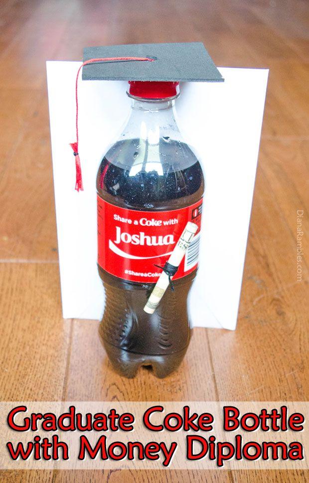 Share a Coke with a Graduate: Coke Bottle Graduation Gift Tutorial  AD #graduation #gift