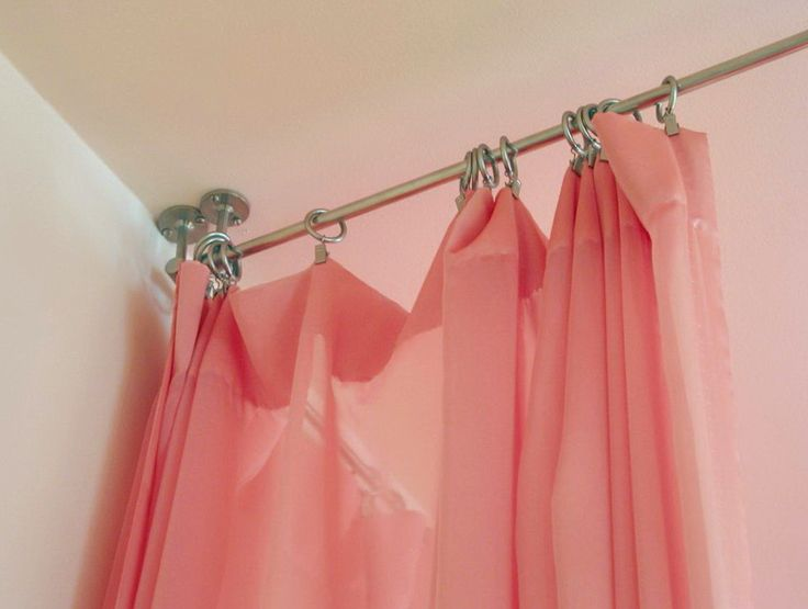Hanging Curtain Rods From Ceiling