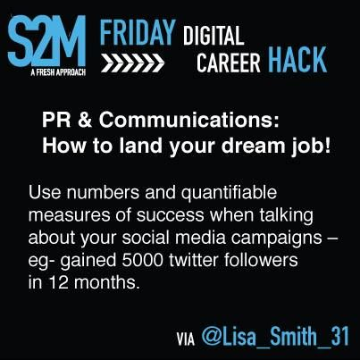Career Hack #11 - Use quantifiable measures of success when talking about social media